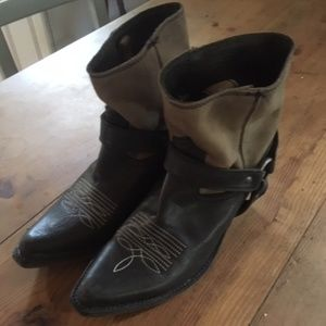 Made in Mexico Leather Cowboy Booties